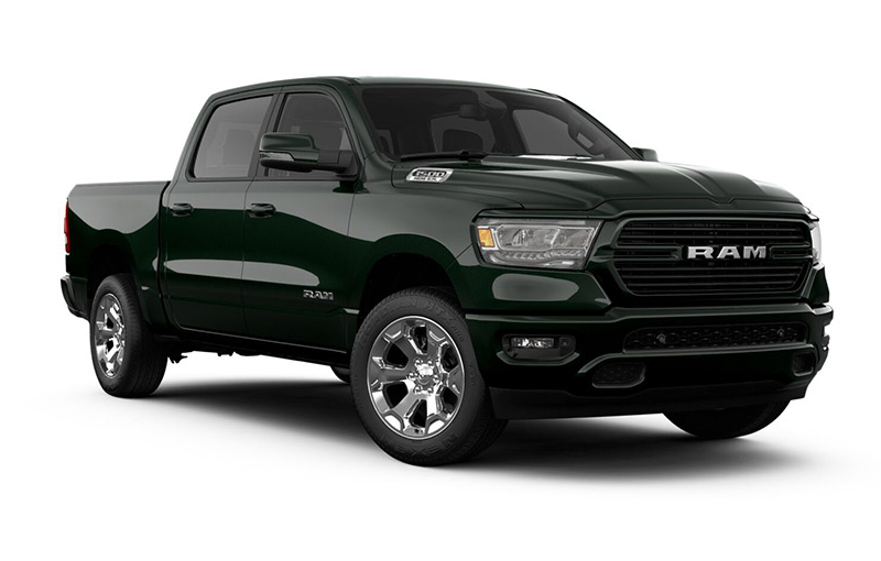 Ram 1500 Big Horn-Black-Forest-Green-Pearl